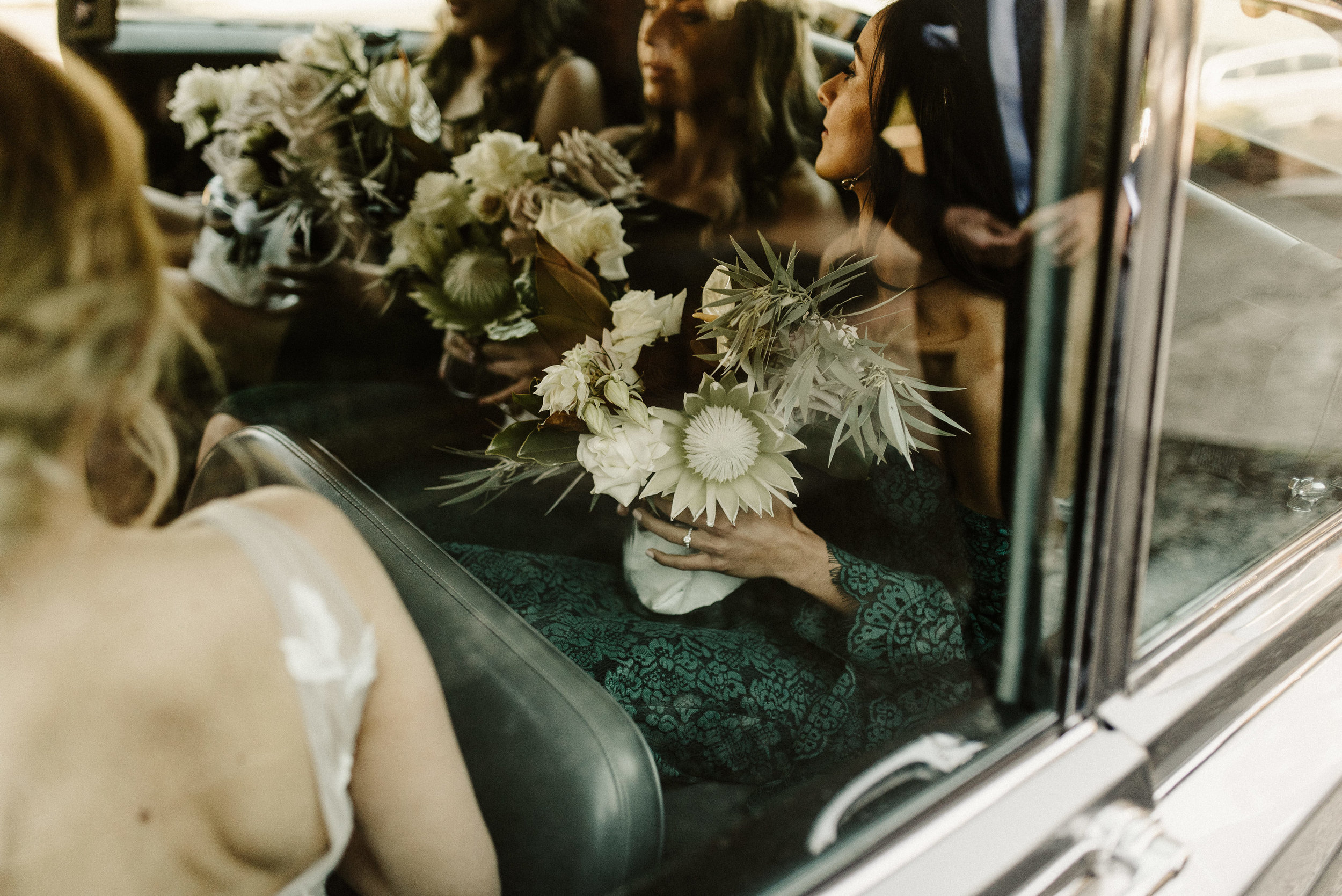 Tess + Greg Bohemian Native Luxe bouquets