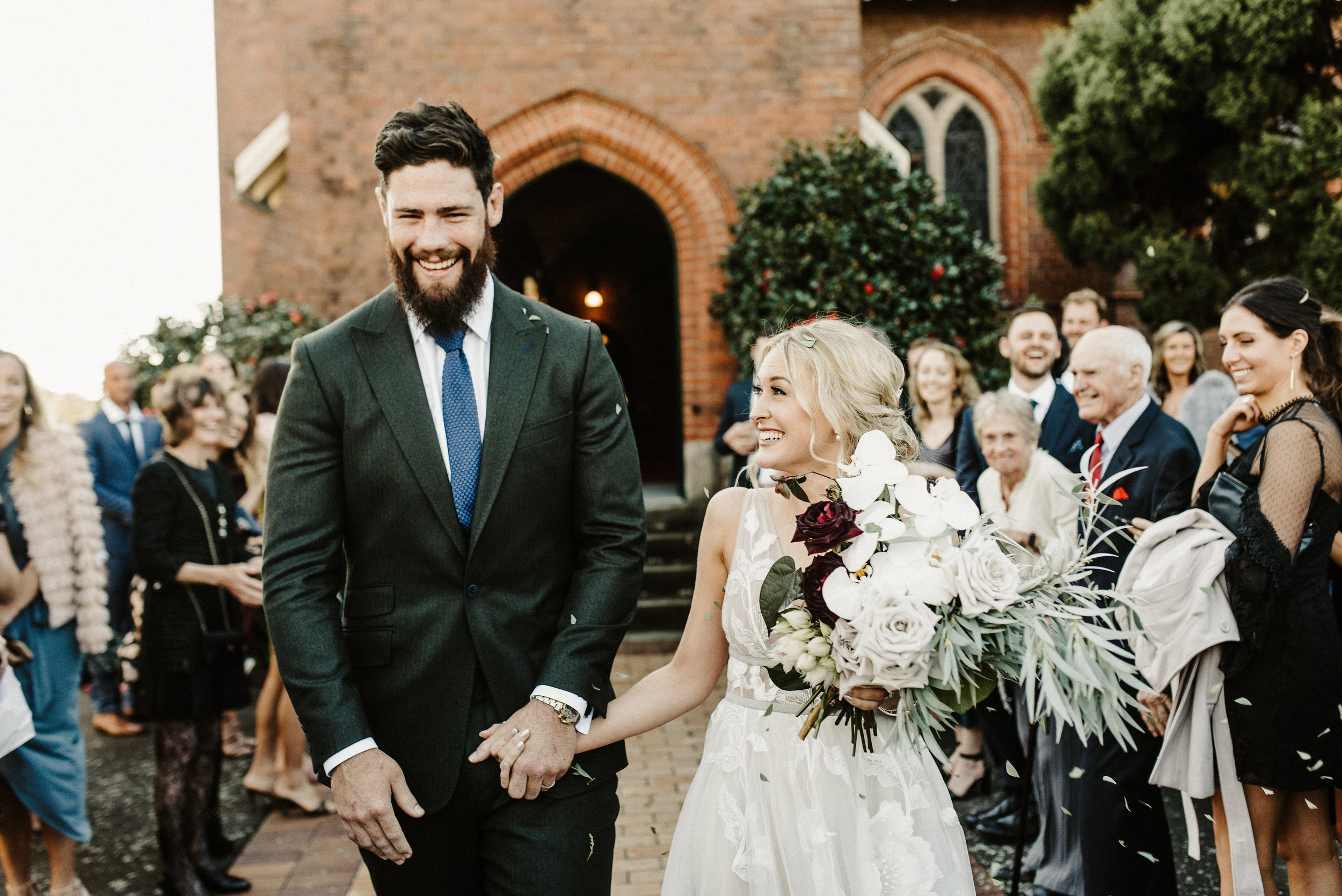 Tess + Greg Native Bohemian Luxe Bohemian Blooms Couple loved up