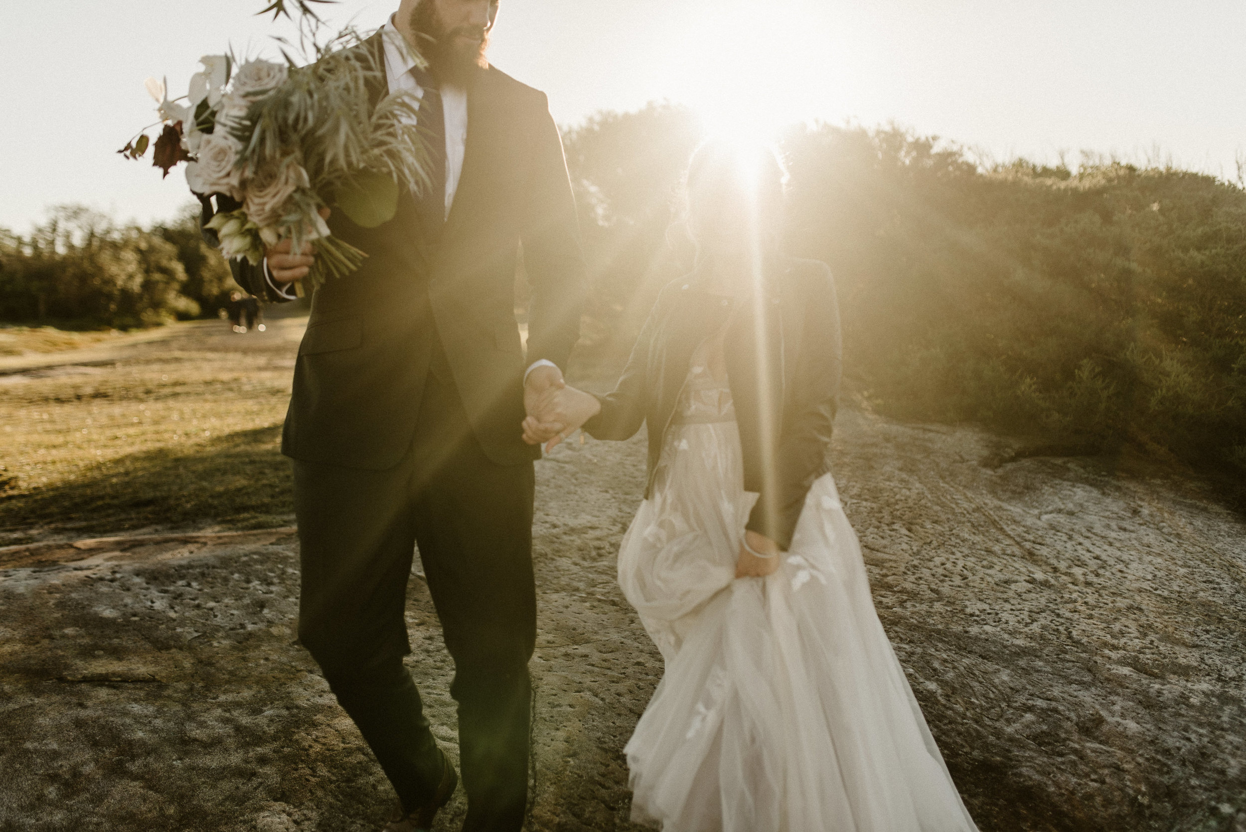 Tess + Greg Bohemian Blooms Bohemian Native Luxe loved up couple