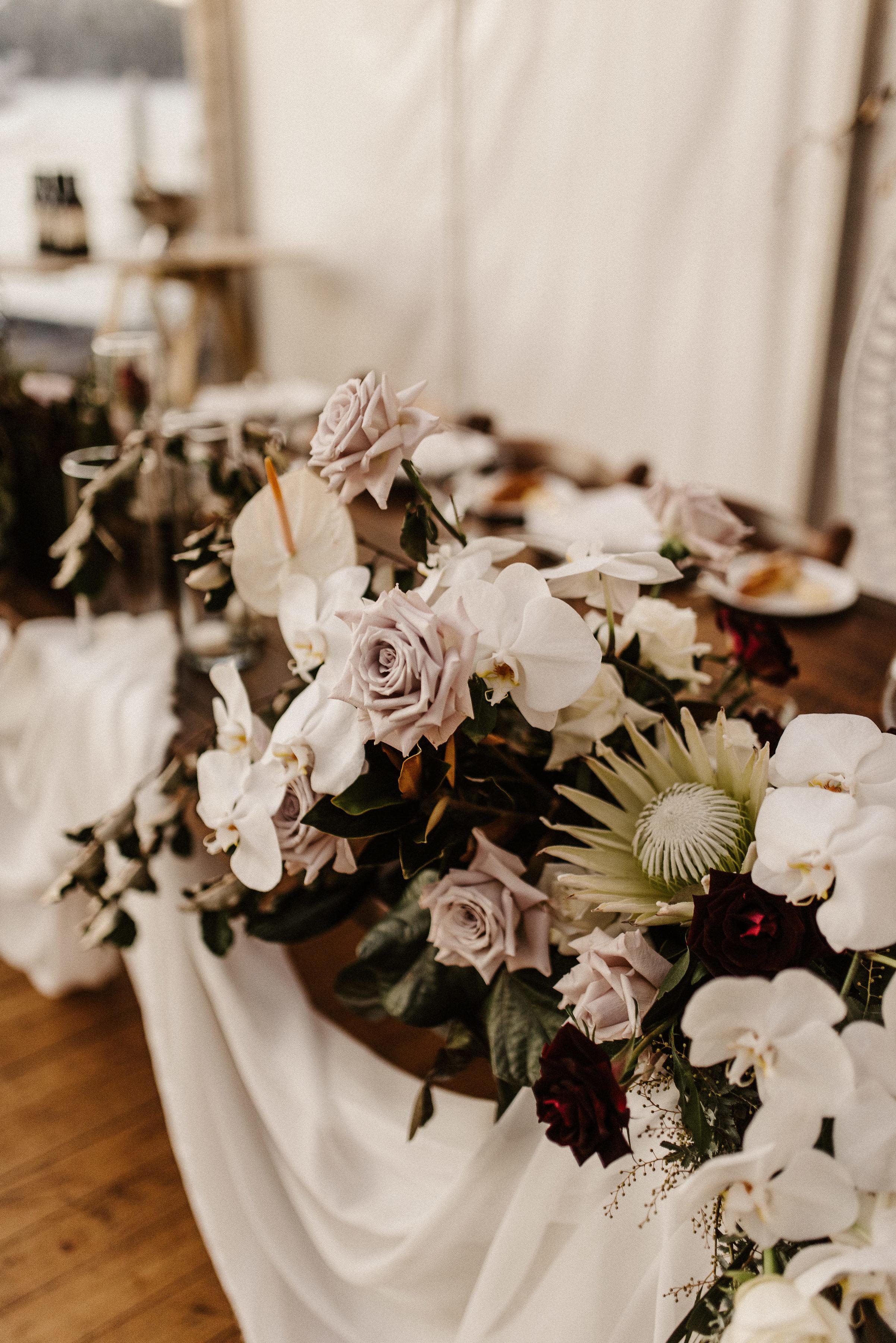Tess + Greg Native bohemian Luxe Floral arrangements