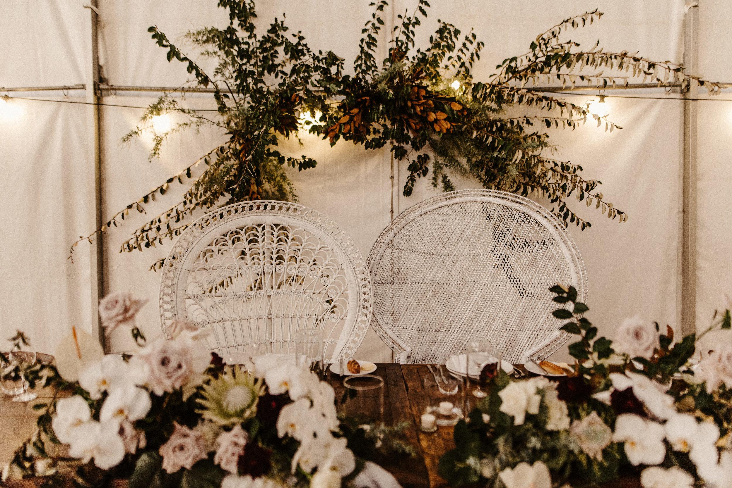 Tess + Greg Bohemian Blooms Bohemian Native Luxe Bridal Party