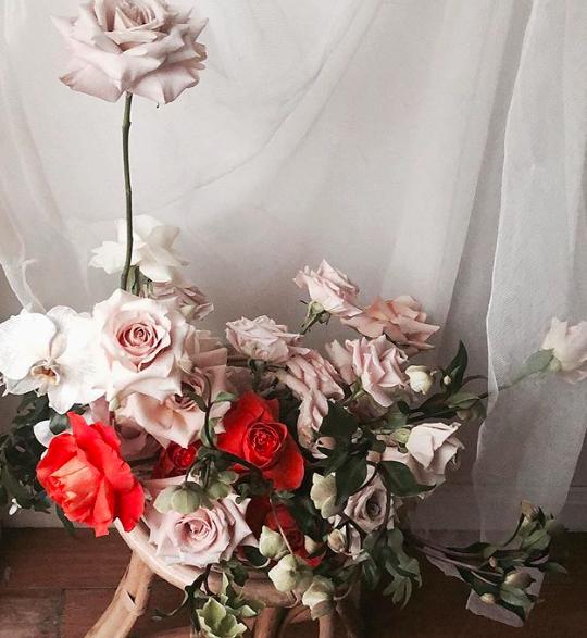 BU Day Beautiful Minds Bohemian Blooms Floral arrangement