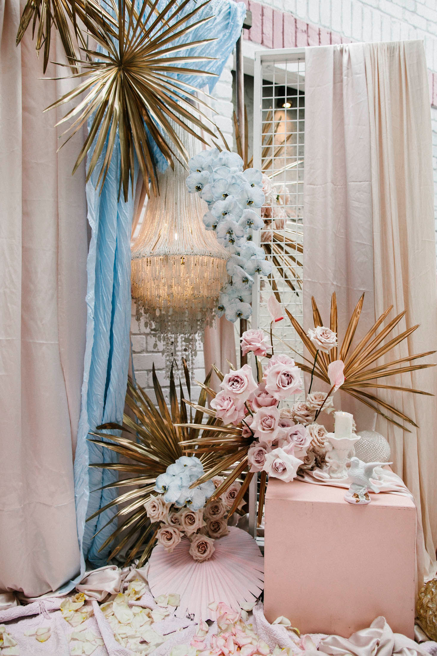 Lara + Cass Bohemian Blooms ceremony juliet's bedroom