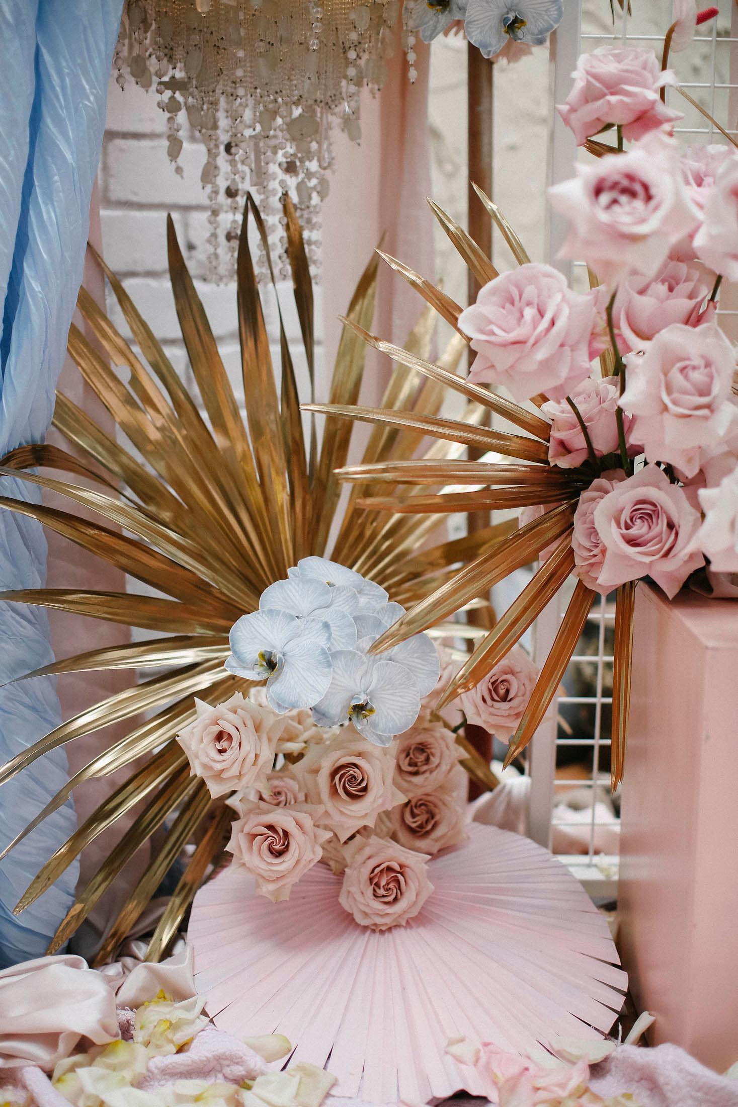 Lara + Cass Bohemian Blooms juliet's bedroom ceremony