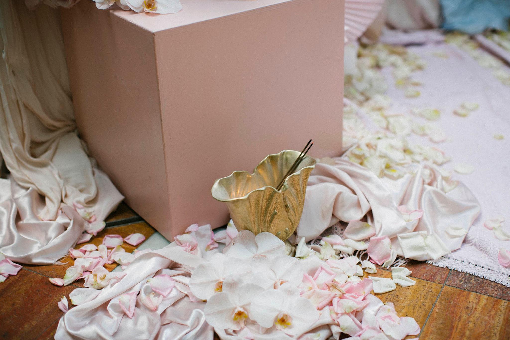 Lara + Cass Bohemian Blooms petals juliet's bedroom