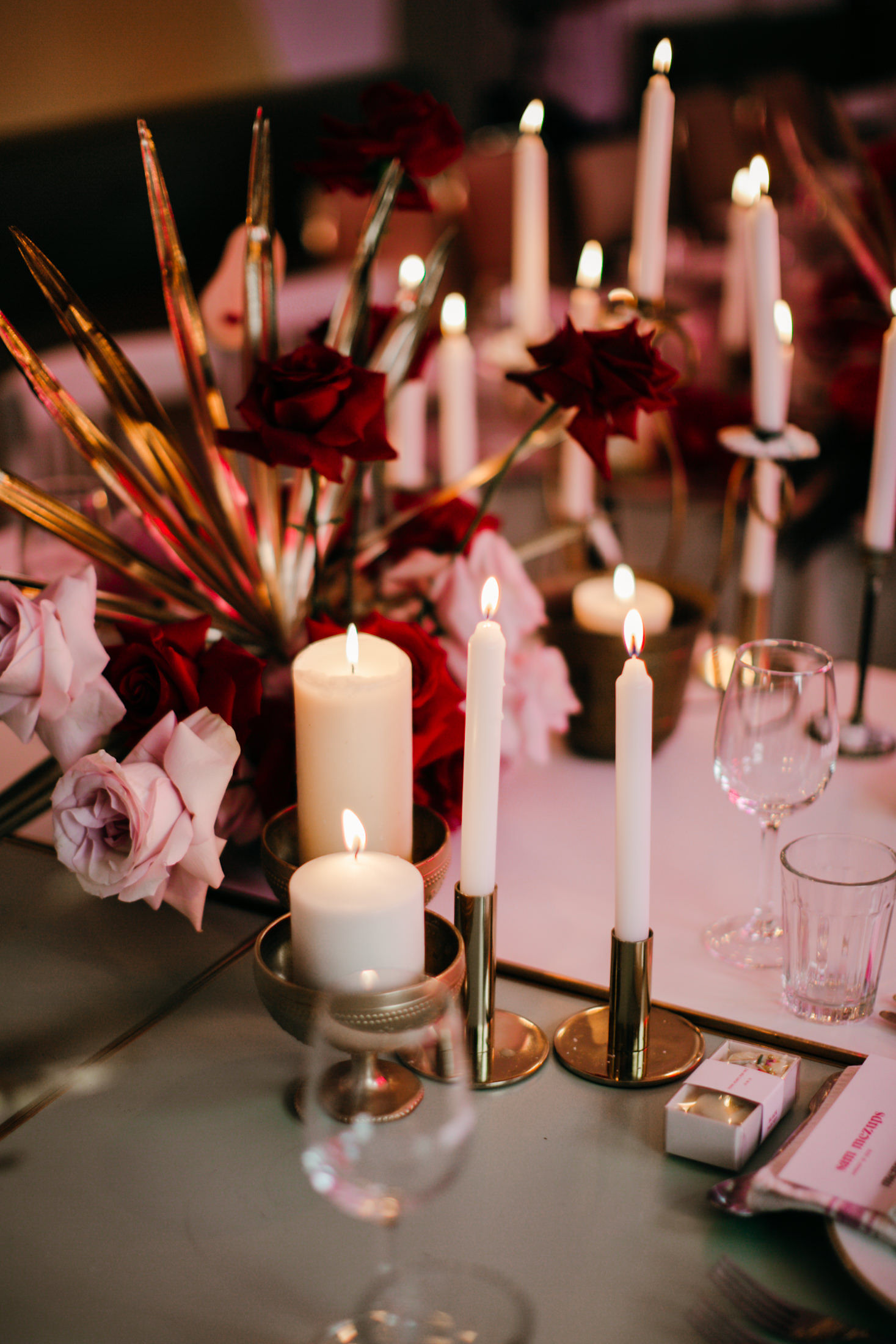 Lara + Cass Wedding reception bohemian blooms romeo and juliet