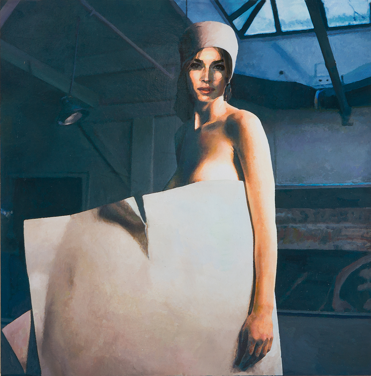 Woman with Torn Paper