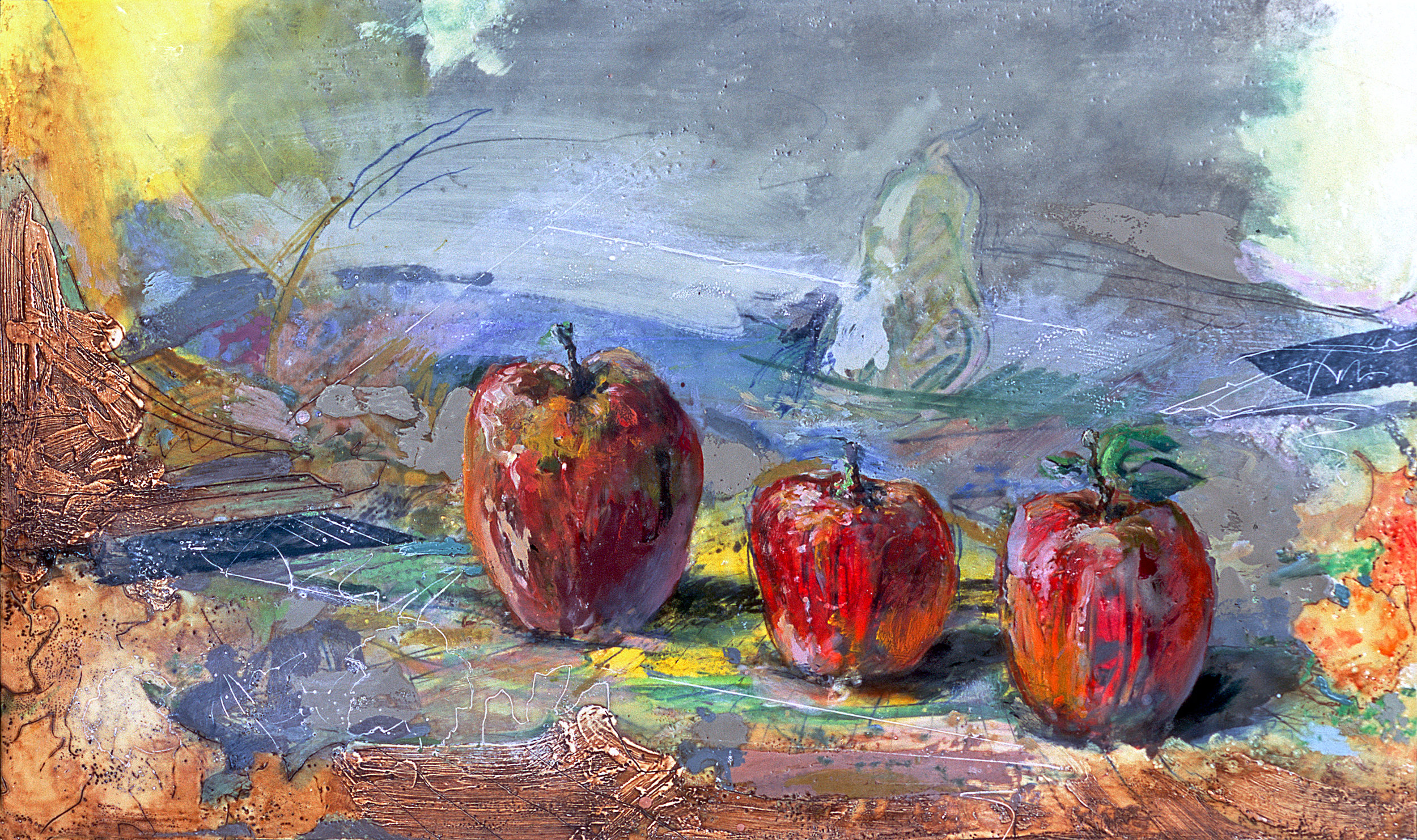 Three Apples in the Field