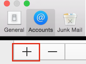 - Within the Mail Preferences, select