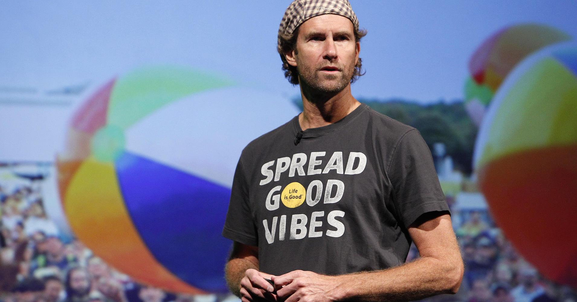 """Bert Jacobs, co founder of """"Life is Good"""" tees."""