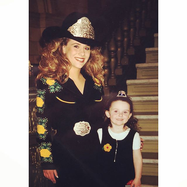 """When Kaitlin was just 4 years old, she dreamed of becoming a """"Miss Rodeo"""" just like her mom who had been Miss Rodeo Oregon. Kailin's dream came true and she enjoys representing Montana. (Kaitlin on the right)."""