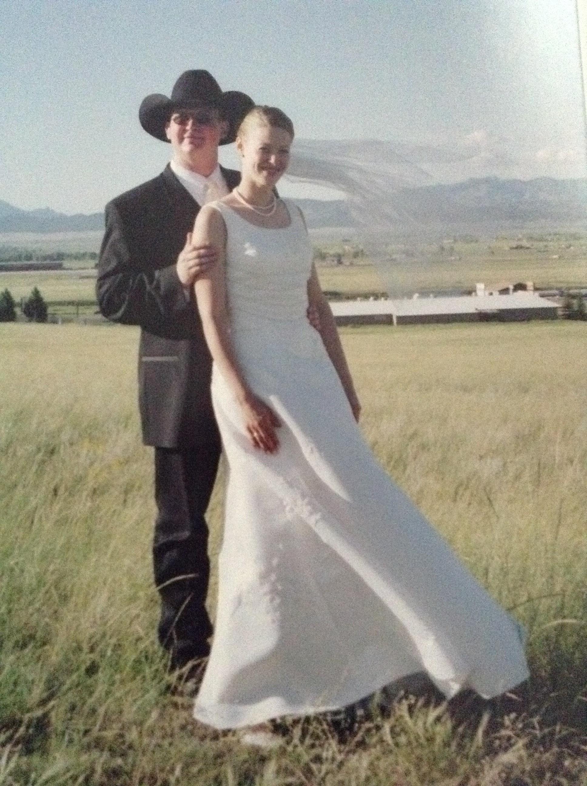 Wedding day, June 2002