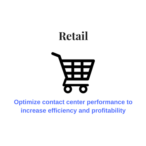 Contact center solutions for the retail industry