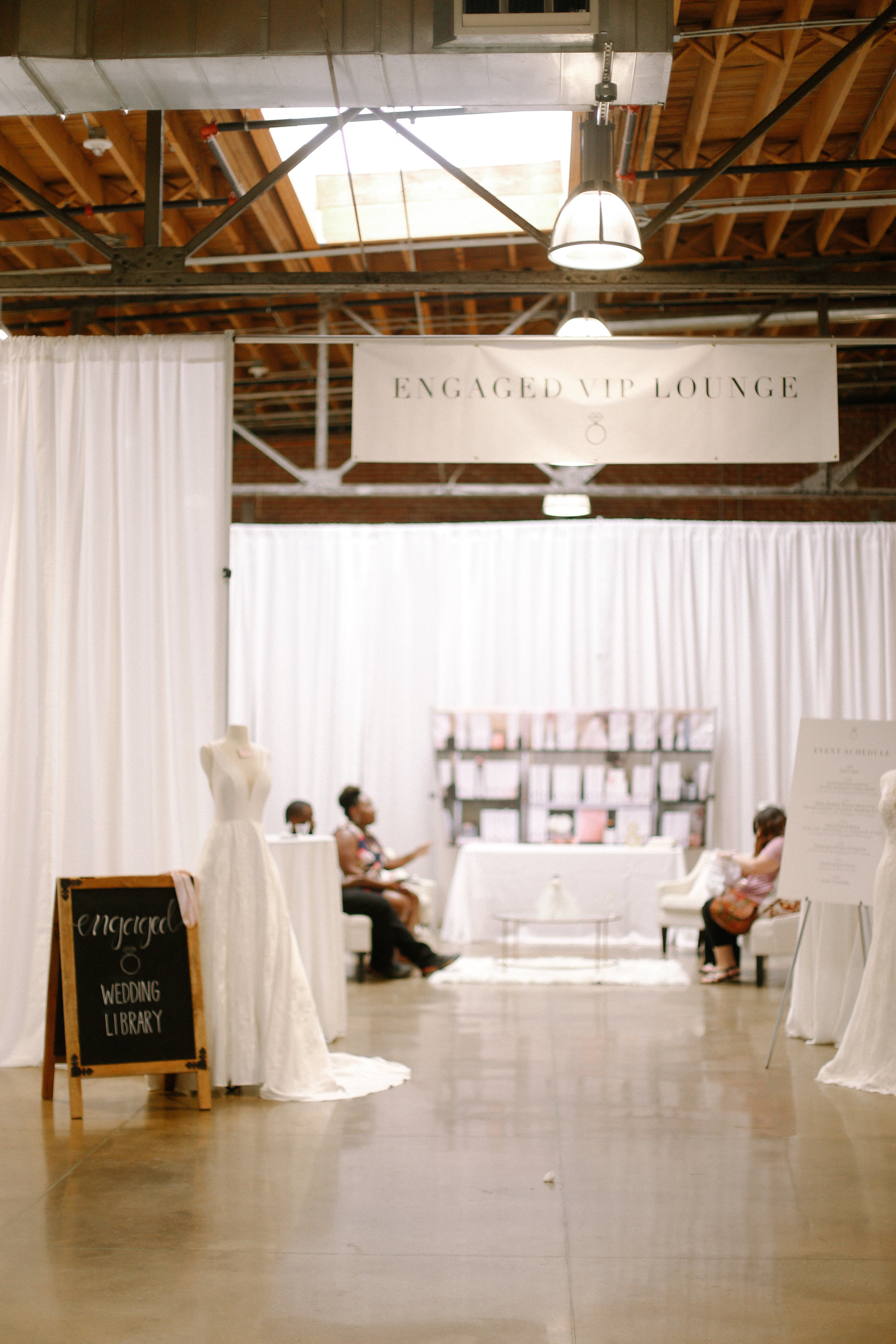Brides, grooms, friends, and family enjoyed hanging out & relaxing in the new Engaged VIP Lounge!