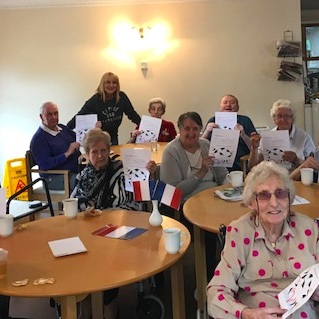 Linda's French Class, Kyle Court Care Home, Paisley