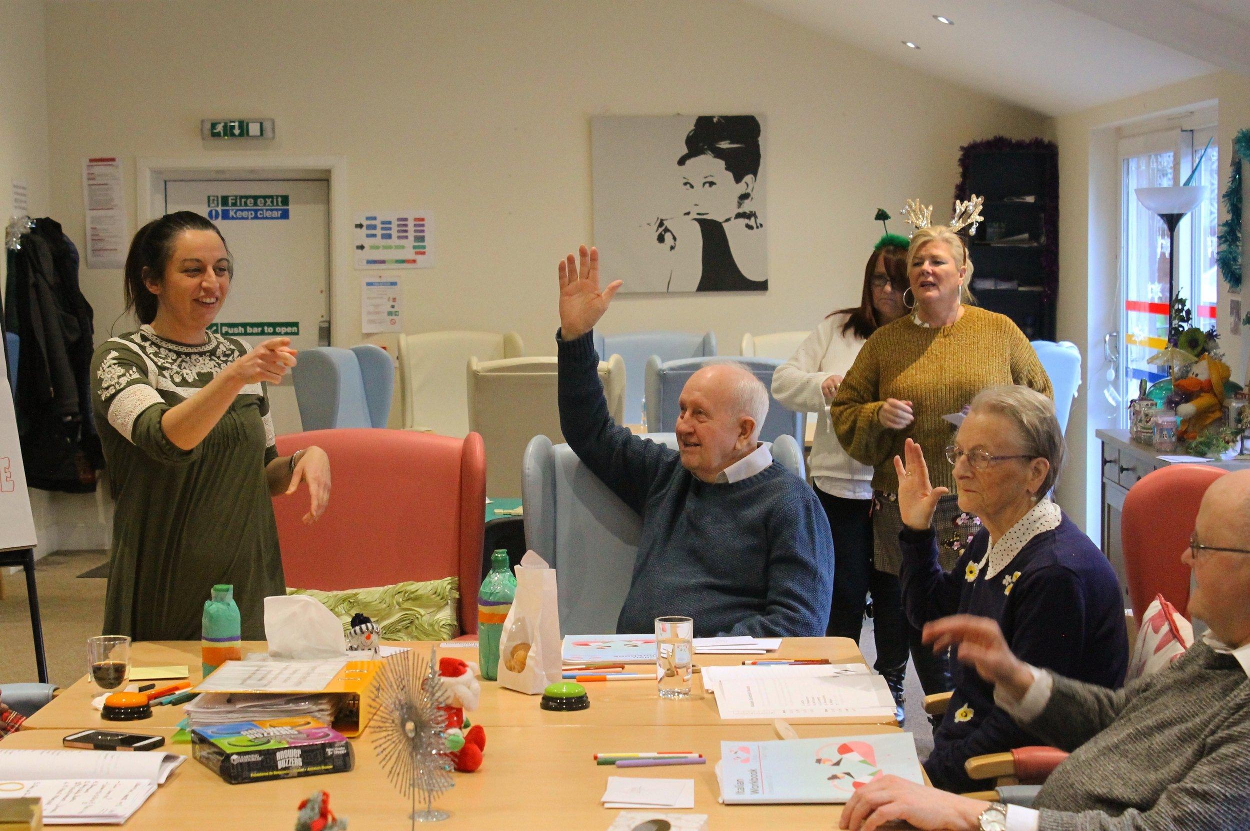 Rosi's Italian Class, Crown Care Day Centre, Greenock