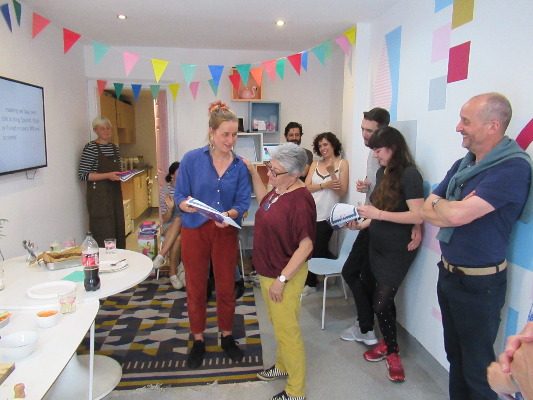 Celebrating the work of our volunteers at Lingo Flamingo's Volunteer Awards Evening