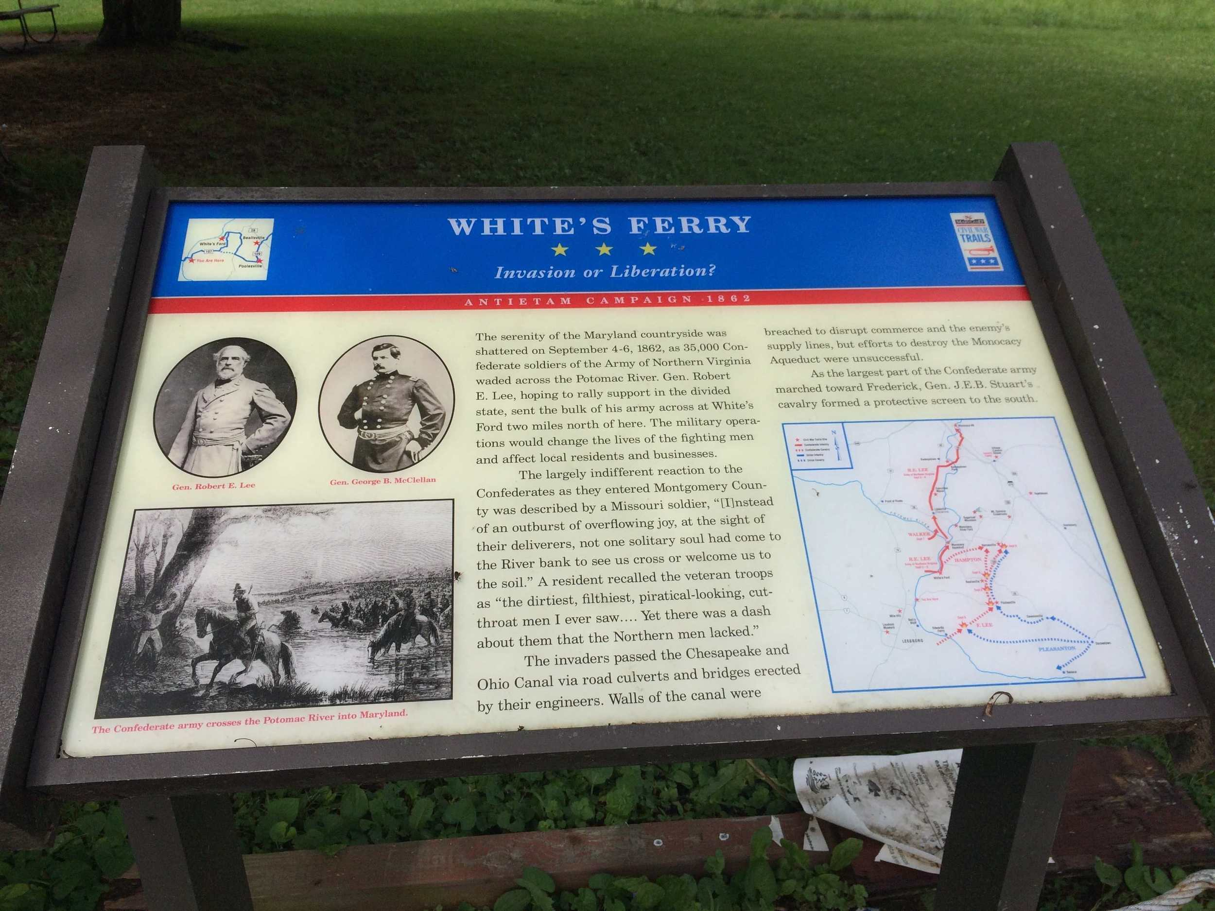 Whites Ferry sign
