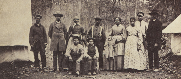 This is one of the few known photos of black Civil War medical works, from the National LIbrary of Medicine.