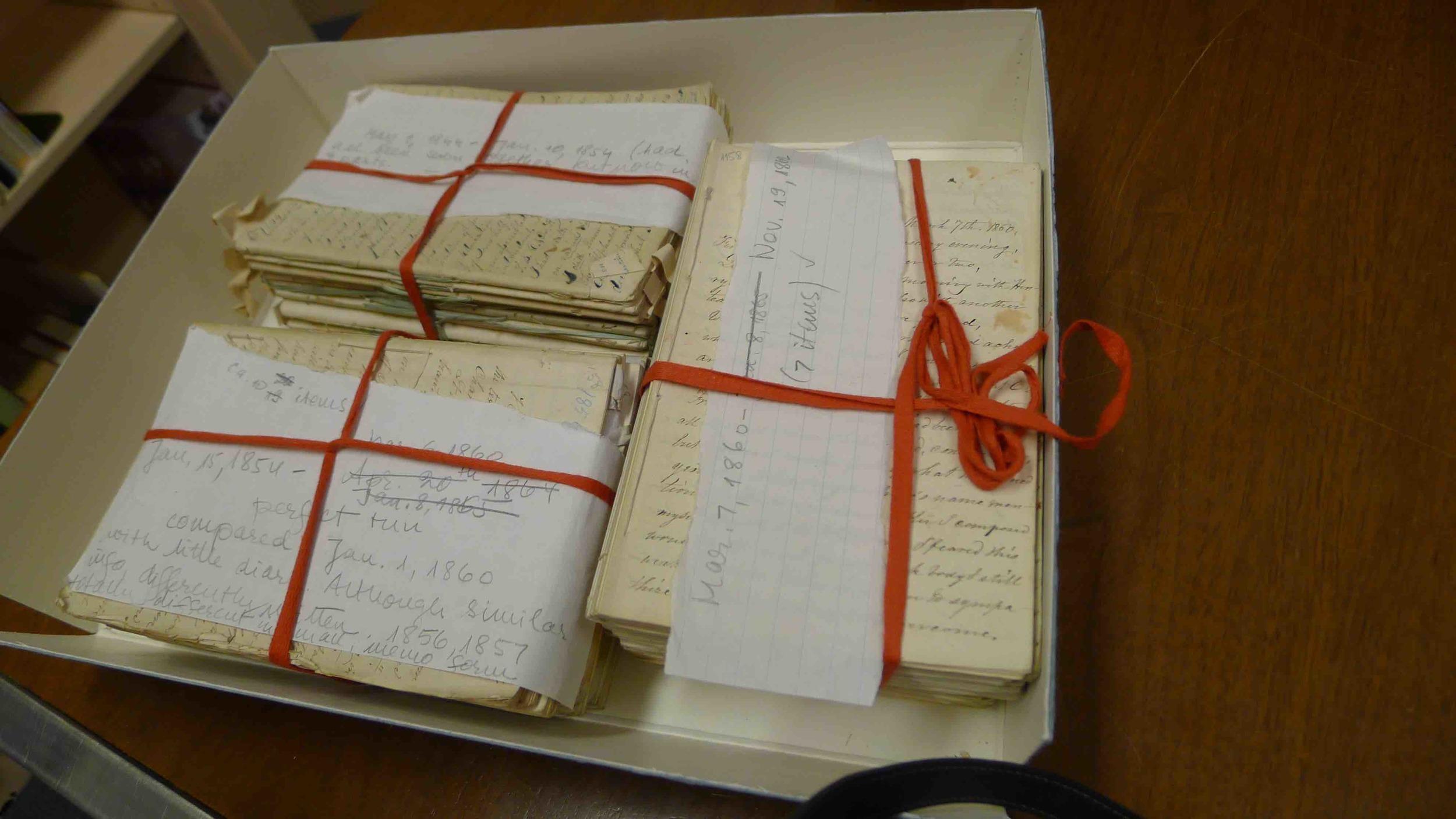 Diary originals, Haverford College, 2012