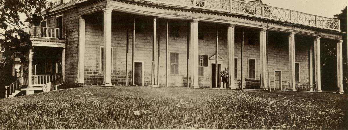 Mount Vernon in 1858. Doubtful that much renovation took place in the early 1860s, so this is what visitors saw.