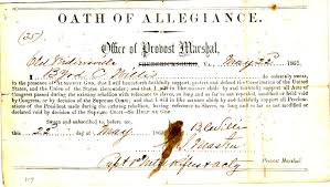 This oath, in the Library of Virginia, is NOT Mary's but gives an idea of what it was. There were various versions and format. The list of Alexandrians who signed is online through the Alexandria library.