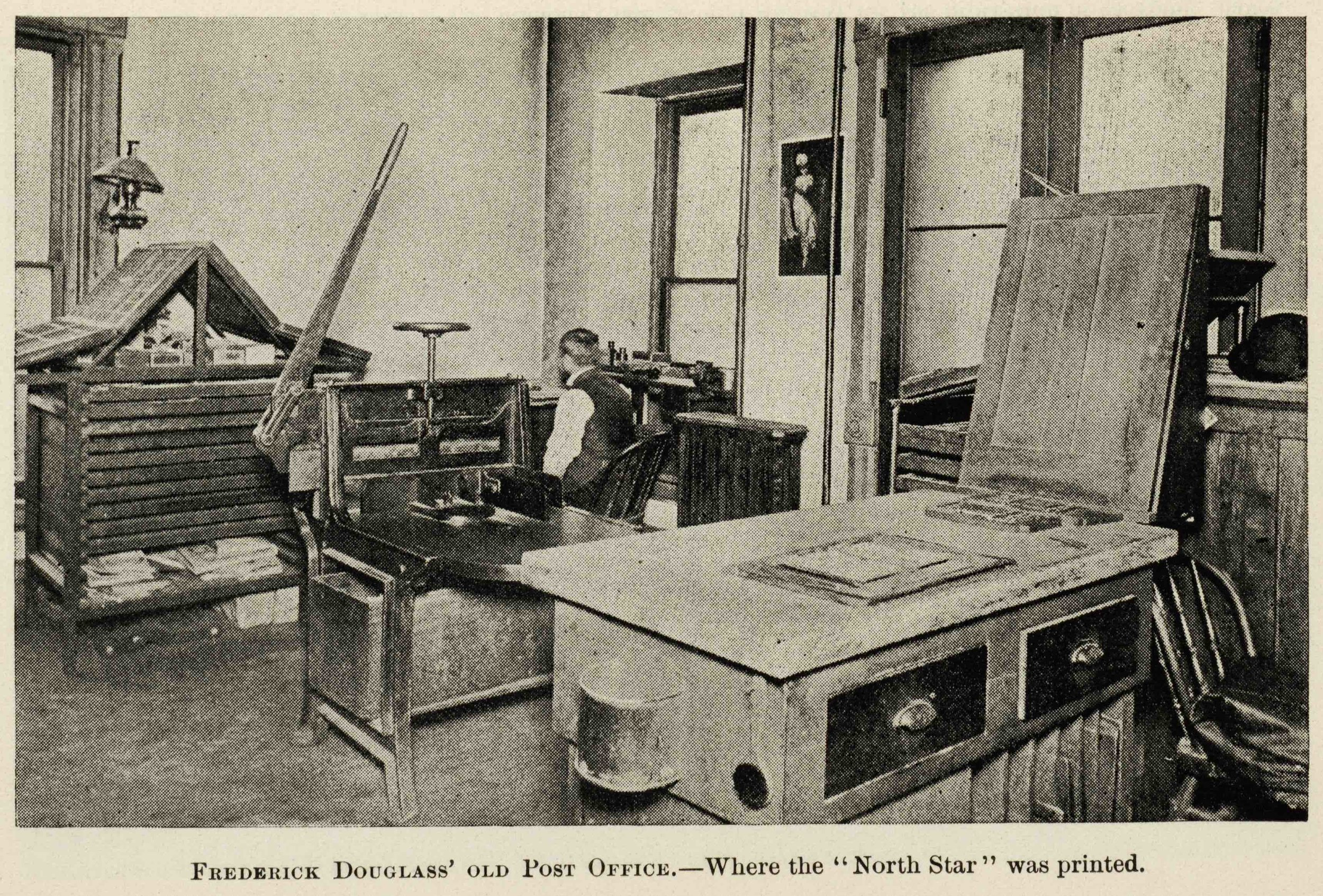 Photo of North Star office, 1893 (after publication ceased), Rochester Public Library Local History Division