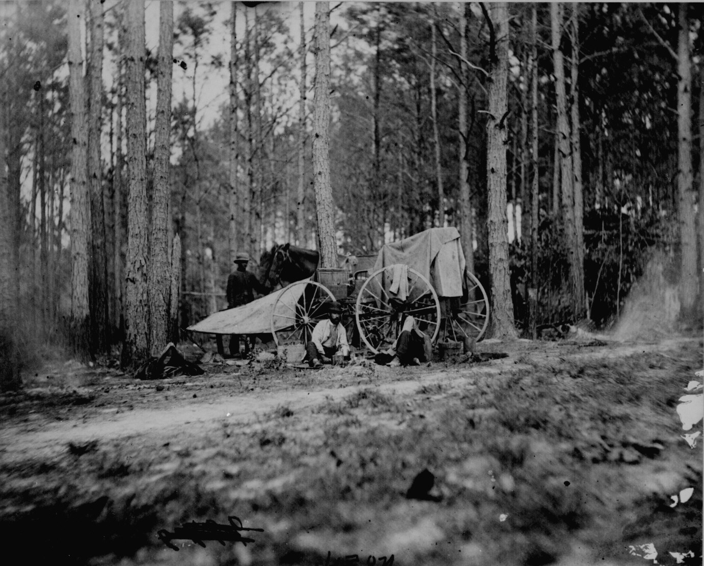 In the field near Petersburg Va., 111-B-5077, National Archives Identifier: 529185