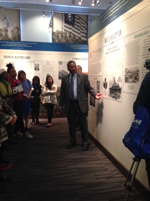 Dr. Frank Smith, museum director, tells the story of Robert Smalls.