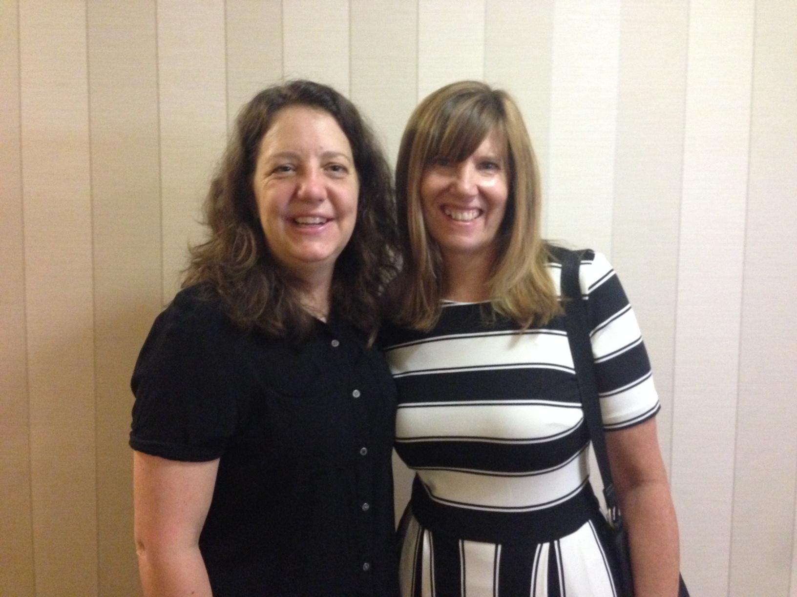 Metropolitan State University colleagues Meg Frisbee and Patricia Richard.