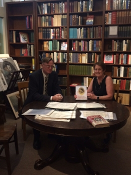 """With Bjorn Skaptason at """"The"""" Roundtable at the Abraham Lincoln Book Shop, forerunner to all Civil War Roundtable groups."""