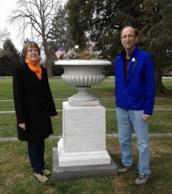 """DIanne and Daryl Sannes have """"adopted"""" the Minnesota Urn at Gettysburg national Cemetery."""