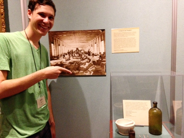 John Lustrea came across one of Clara Jones' transcribed letters and period medical artifacts at the Lyceu.m.