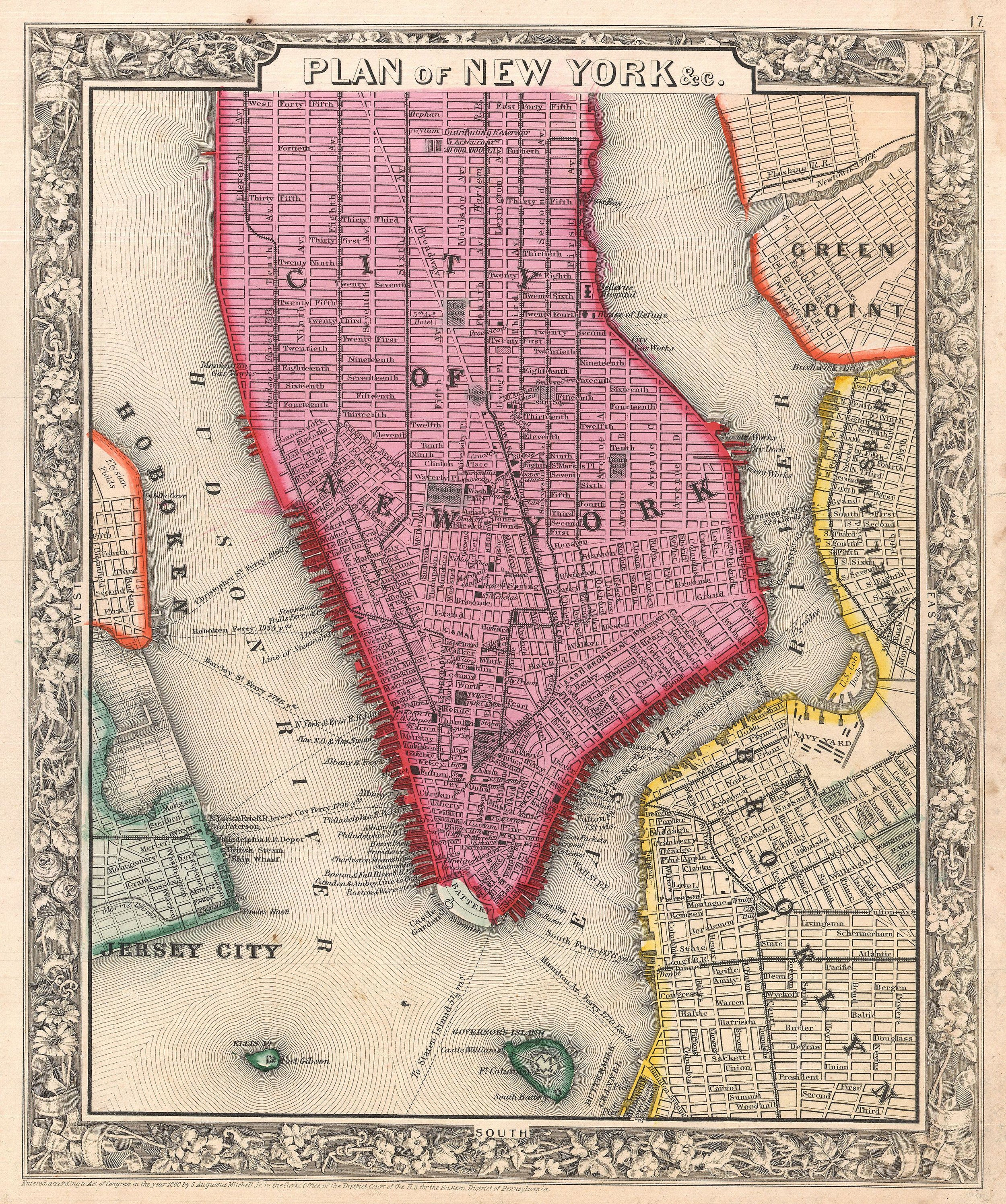 NewYork-1860_Mitchell_Map_of_New_York_City,_New_York_(first_edition)_-_Geographicus_-_NYC-mitchell-1860.jpg
