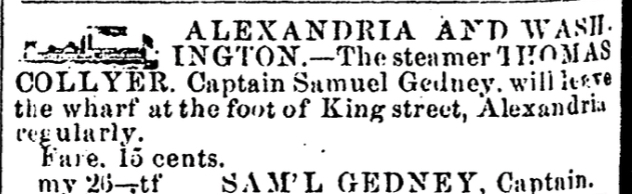 October 24, 1862,  Alexandria Gazette  (many other dates, too)