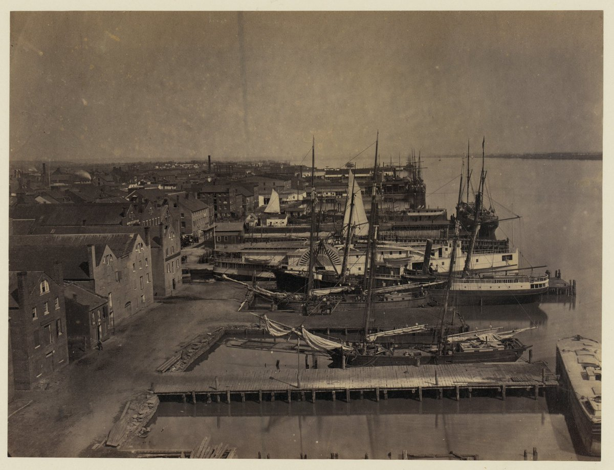 The Alexandria waterfront, 1865, from Library of Congress, LOT 11486-B, no. 1 [P&P]
