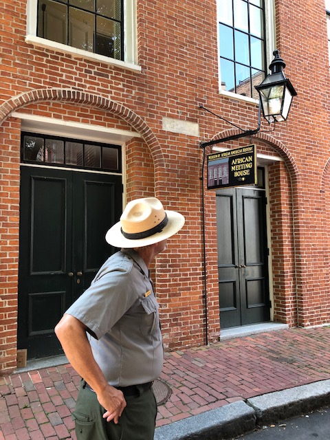 A stop at the African Meeting house on Beacon Hill In Boston.