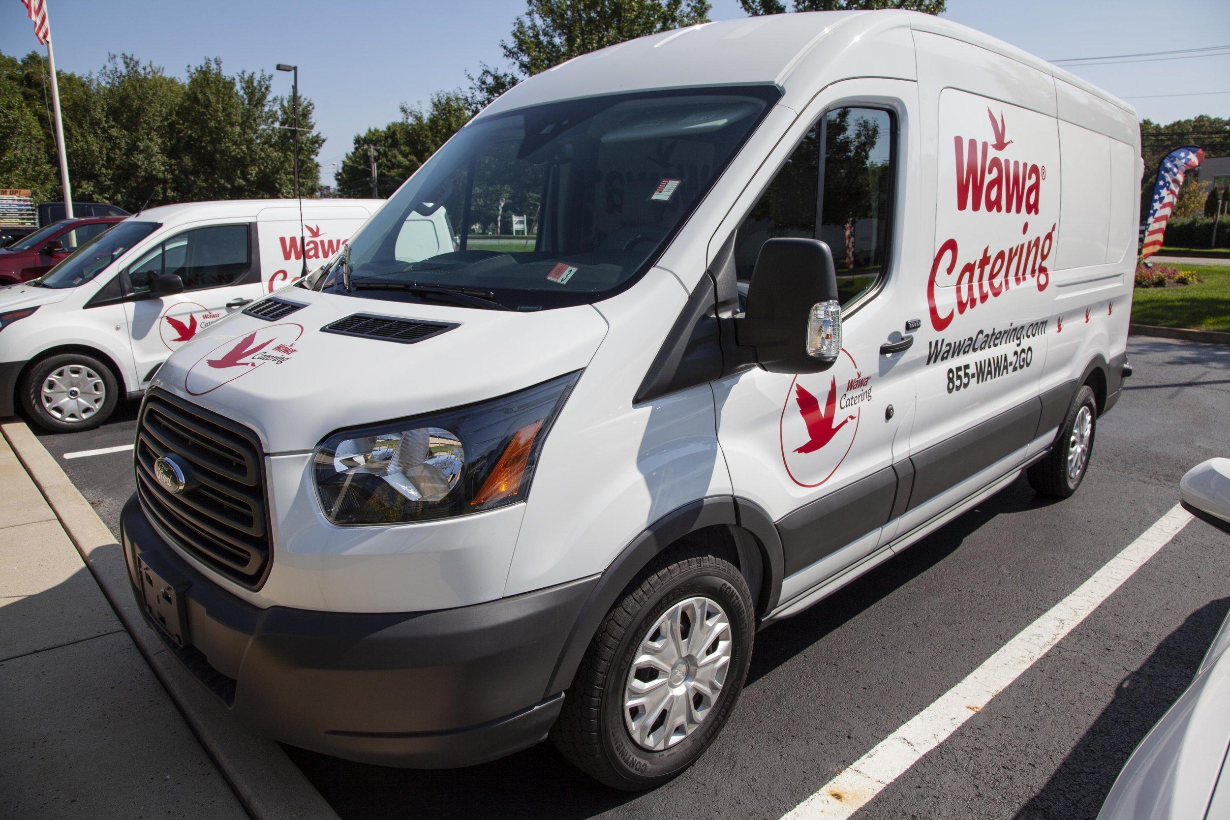 Wawa Catering Vans Vinyl Installation -