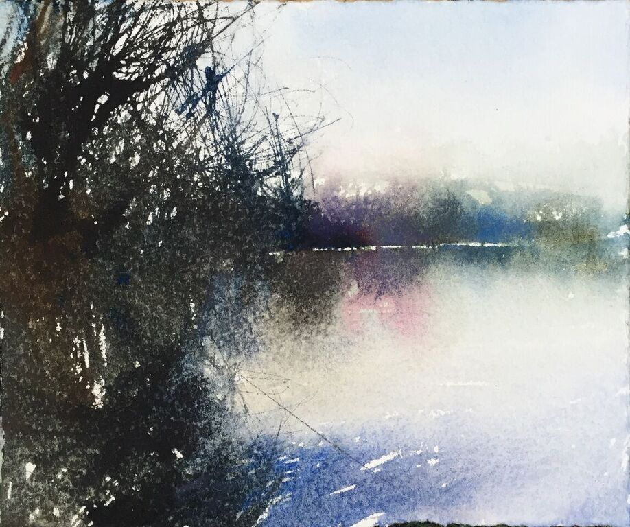 David A Parfitt RI ' Hidden'  13 x 15cm Watercolour