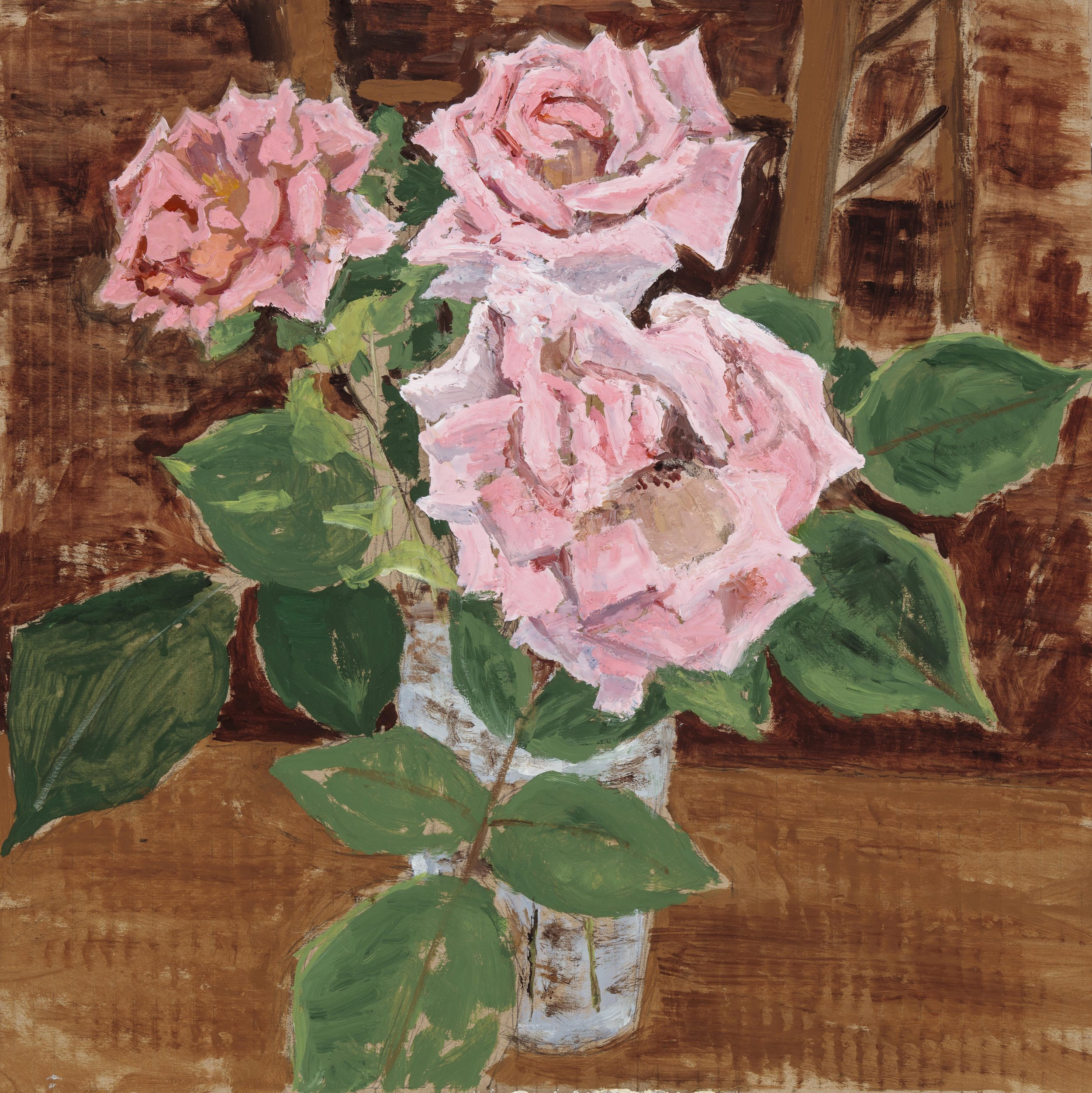 Three Pink Roses (SOLD)