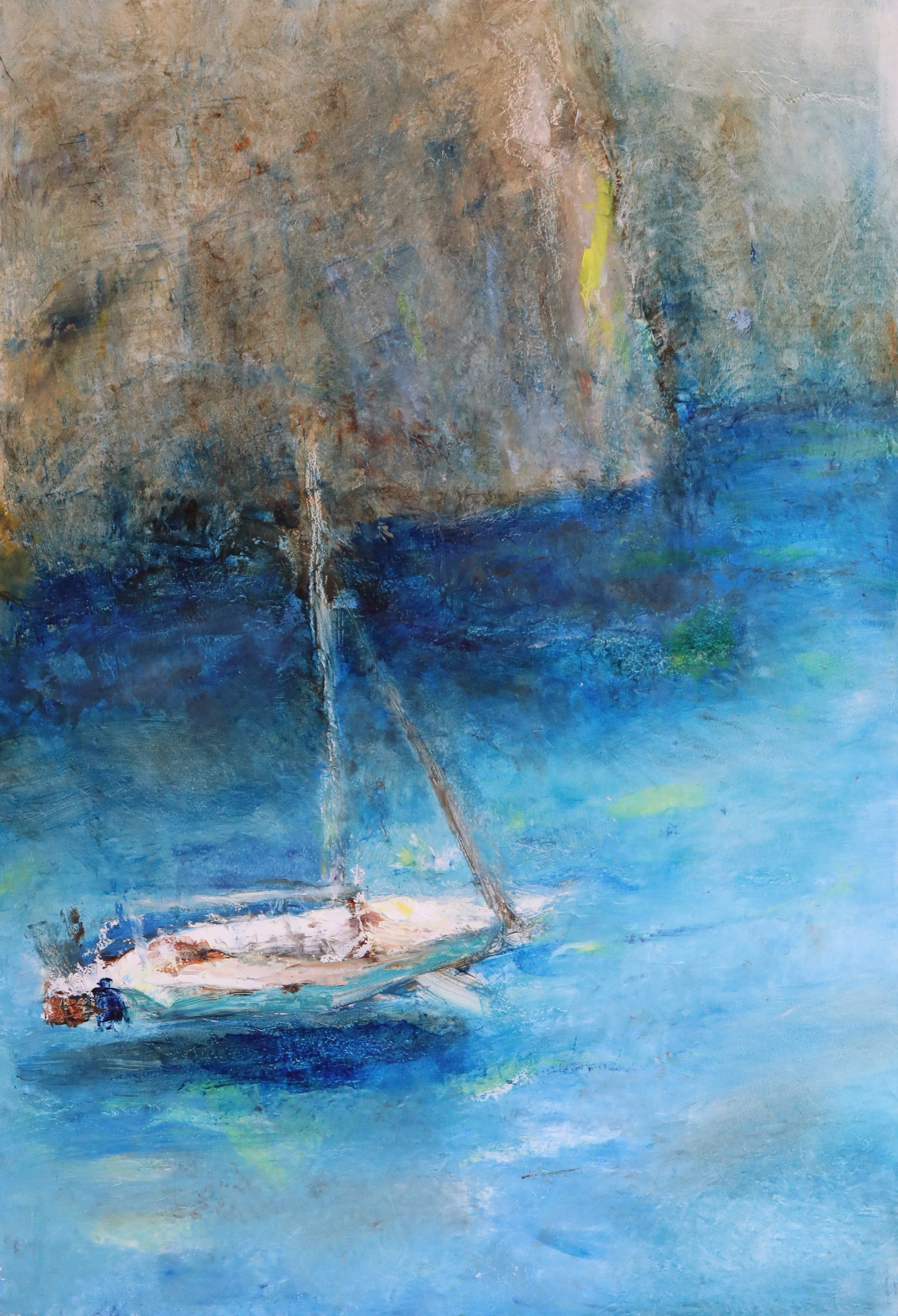 Boat and Cliffs near Begur (sold)