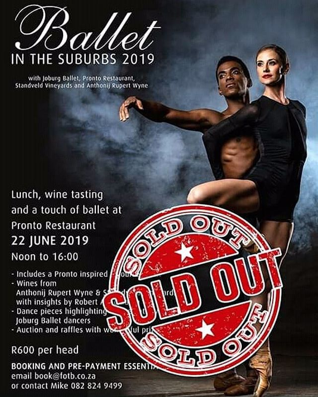 """#Repost @joburgballet ・・・ THANK YOU!!! To everyone that booked for """"Ballet In The Suburbs 2019"""" we shall see you @prontoitalianrestaurant this coming Saturday for some fine wine, delicious dishes and delectable dancing!  #joburgballet #prontoitalianrestaurant #BalletInTheSuburbs #BITS2019"""