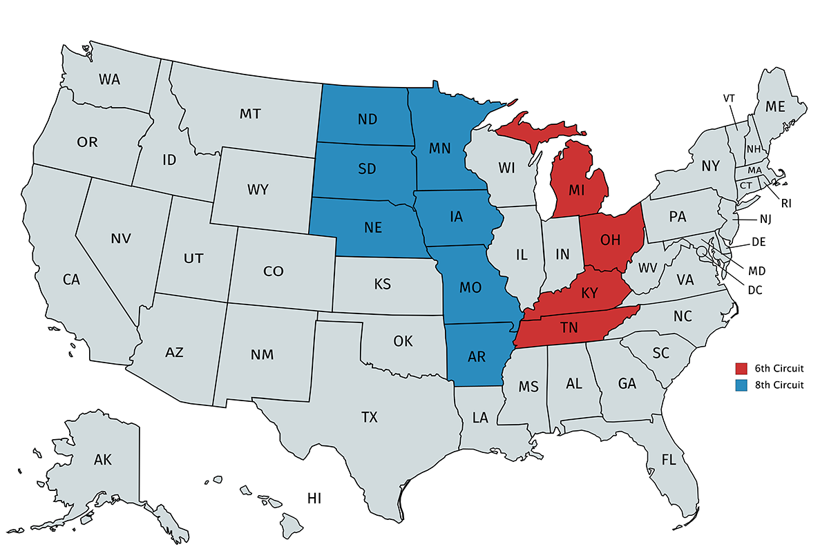 Courts below: 6th and 8th Circuit Courts of Appeals