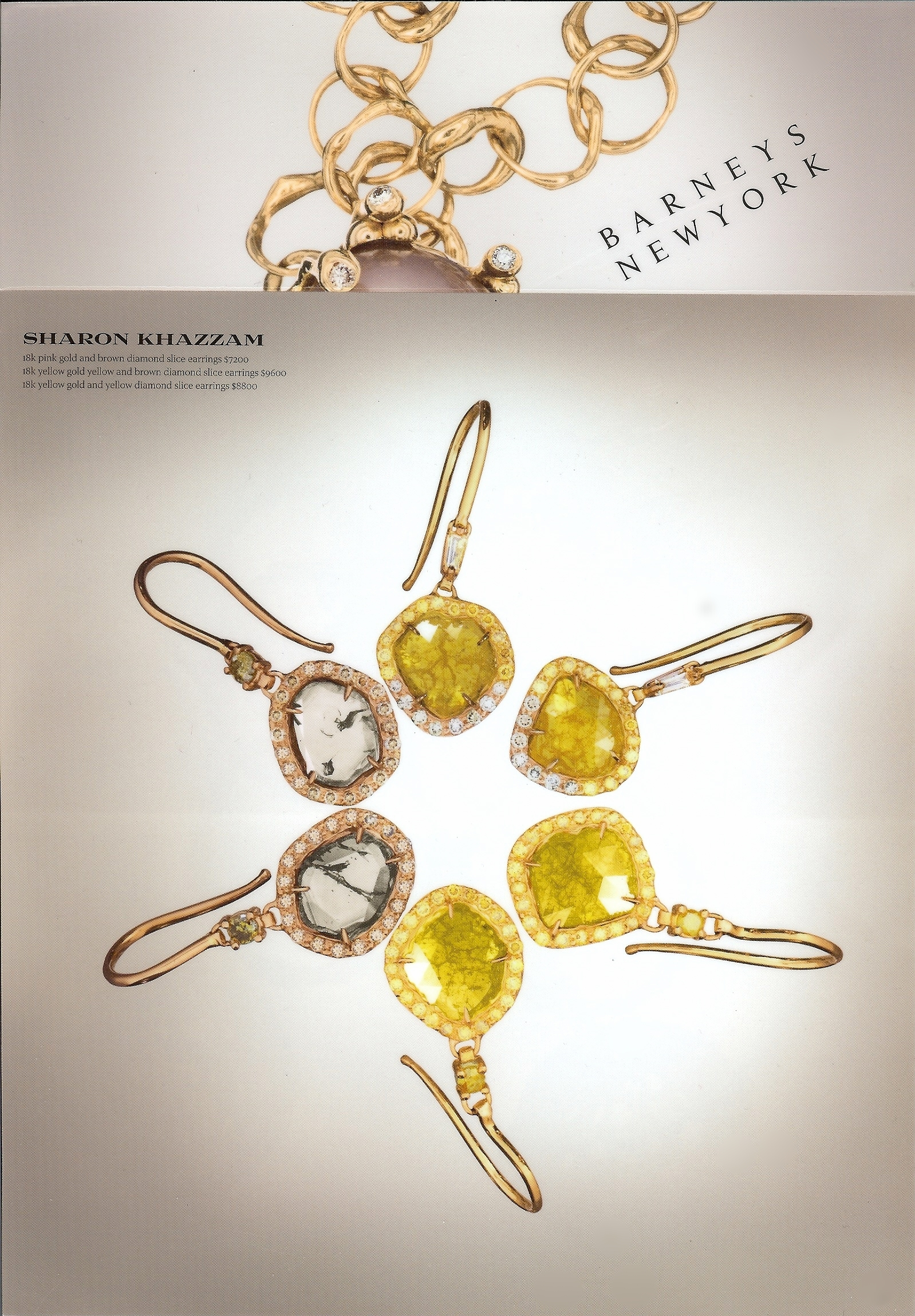 2009-Barneys Mailer- Brown & Yellow Slice Earrings.jpg