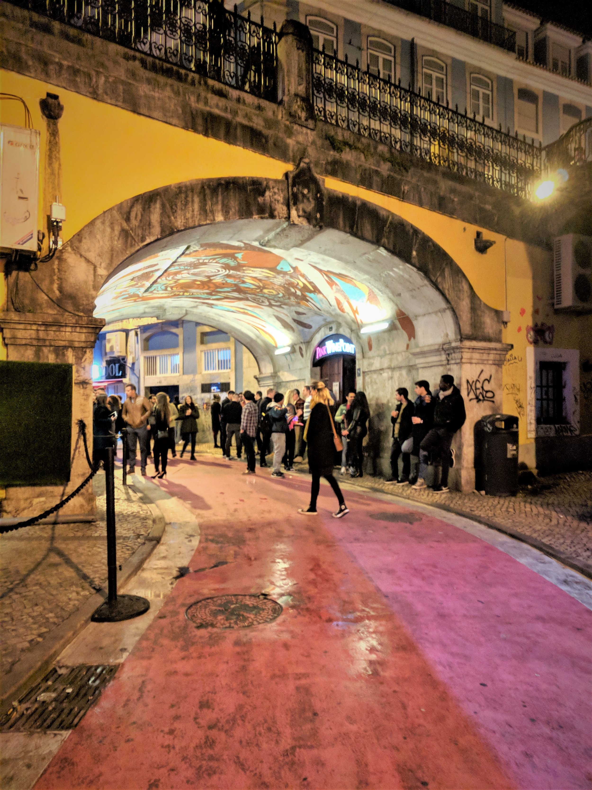 Lisbon's Pink Street - the center of nightlife