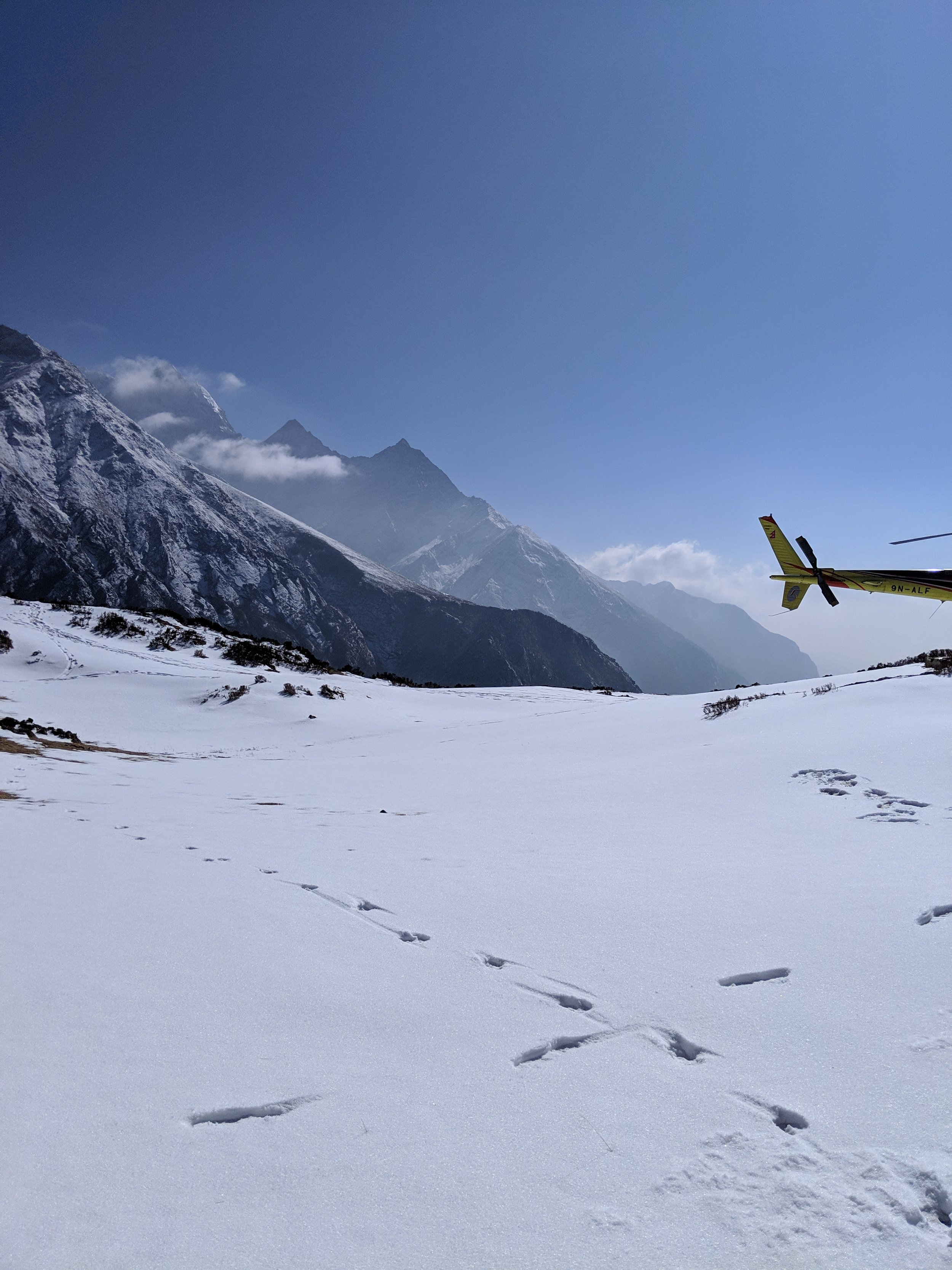 One of the best days of my life- chopper ride in the Himalayas!