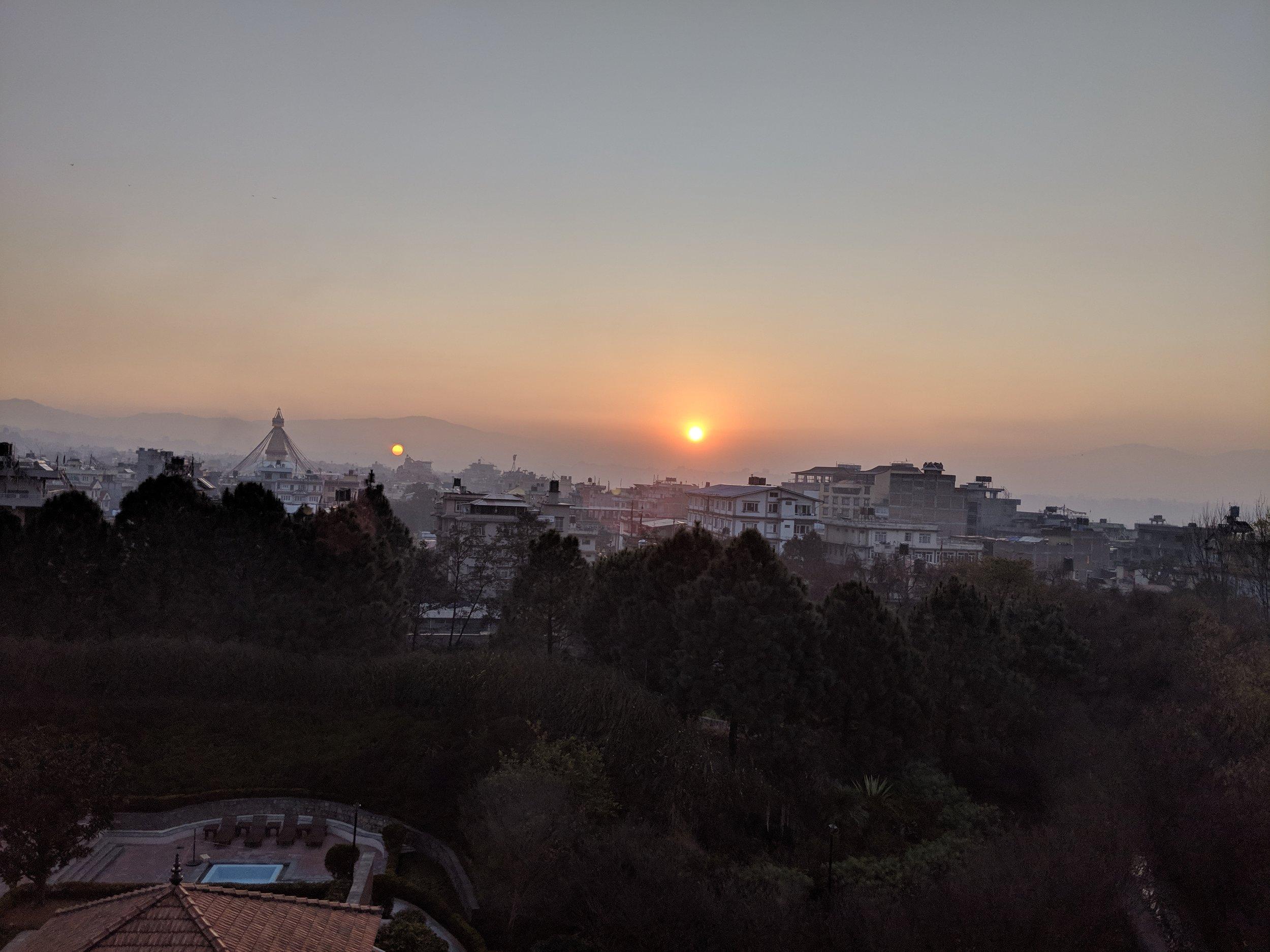 Beautiful smoggy sunrise