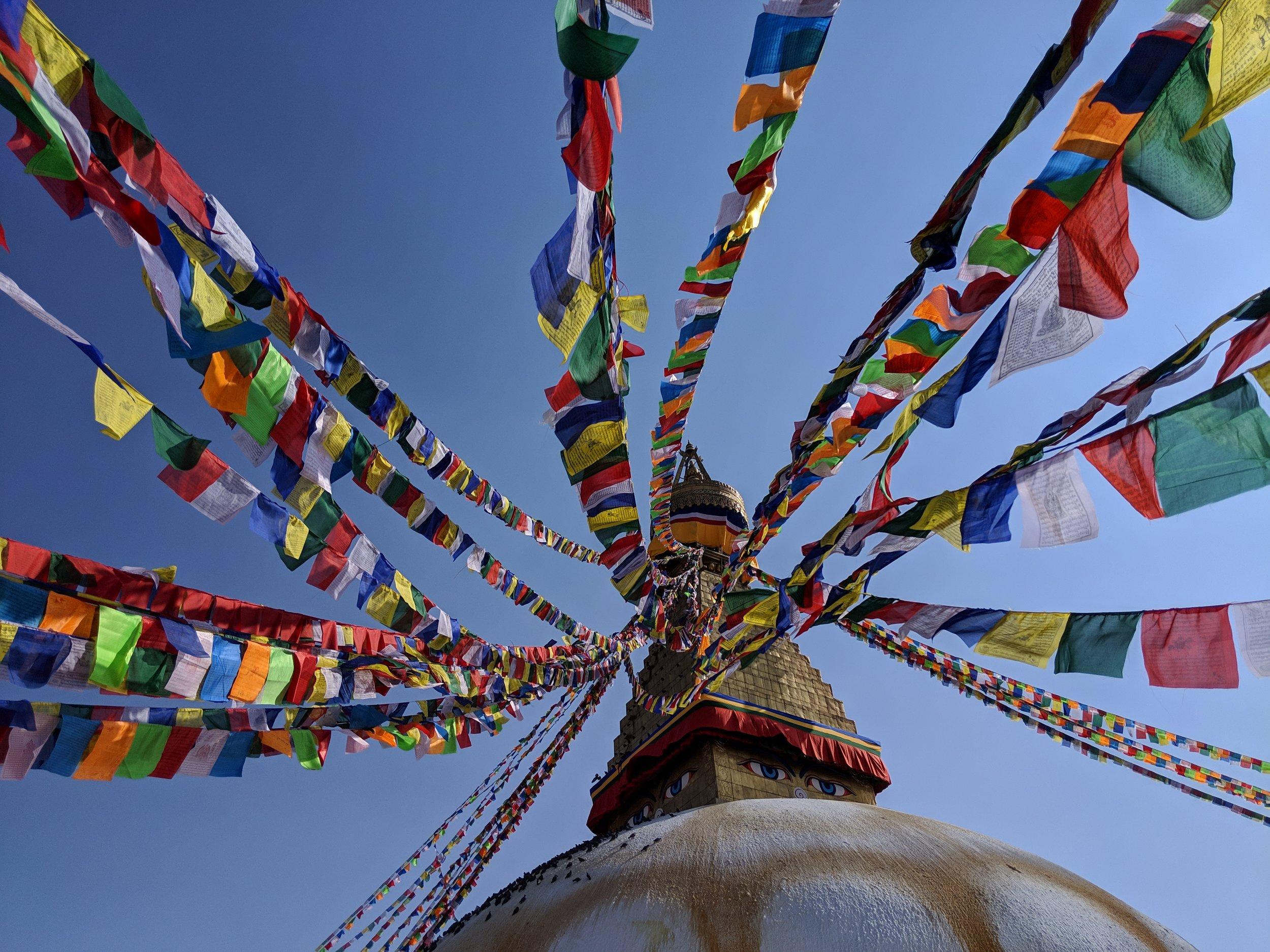 Walking around the Bouddhanath Stupa in Kathmandu was really relaxing