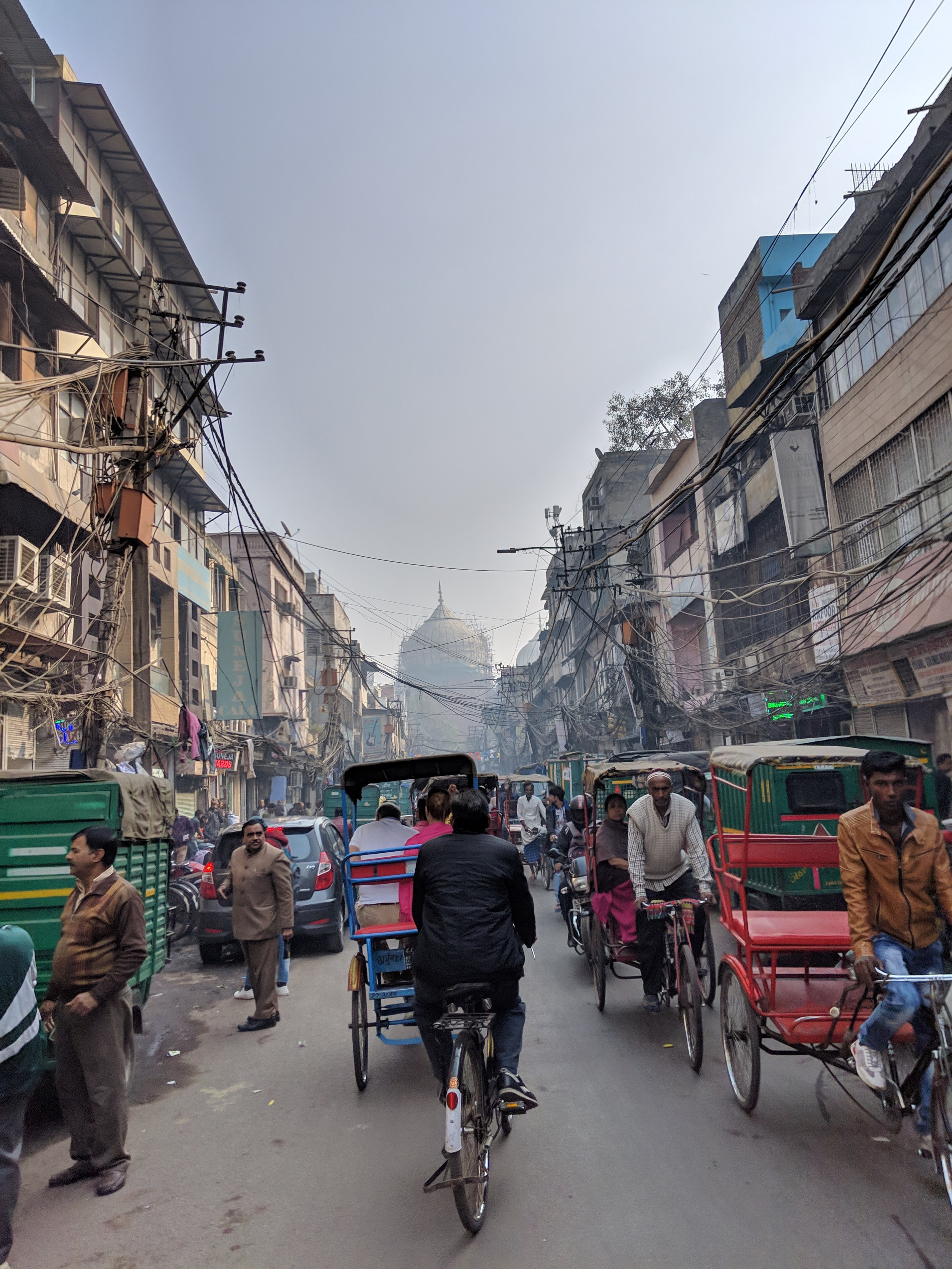 Typical Delhi traffic