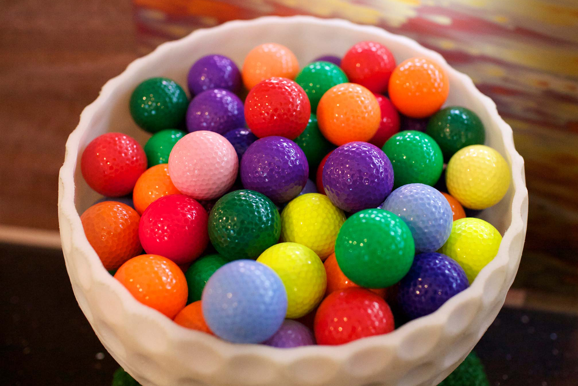 Copy of colorful golf balls